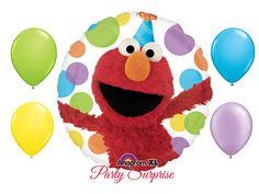 Elmo Balloon Package Sesame Street Elmo Party Hat Birthday
