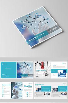 Simple atmosphere high-end full set of medical experiment Brochure Brochure Format, Brochure Cover, Brochure Design, Brochure Template, Flyer Design, Web Design, Medical Design, Healthcare Design, Modern Business Cards