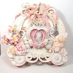 ILuvVintageScrap: Shabby Chic Princess Carriage Mini Album