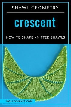 This is the seventeenth post in a series about different shawl shapes and how to knit them. Eight Equal Wedge Crescent Shaped Shawl from the top… Knitted Poncho, Knitted Shawls, Crochet Shawl, Free Crochet, Knit Crochet, Crochet Vests, Crochet Cape, Crochet Edgings, Crochet Motif