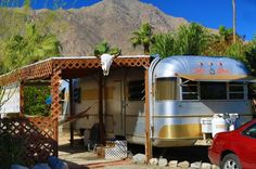 silver streak trailer at desert sands vintage