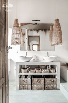 Mediterranean beach house bathroom to relax &..COCOON / Feel inspired byCOCOON.com #COCOON Dutch designer brand
