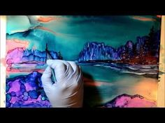 Painting with Amazing Alcohol Ink on Yupo - Try Inks so much fun! - YouTube