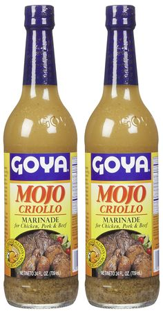 Marinade chicken in Goya Mojo, one cup of lime juice, one tablespoon oil oil, one tablespoon minced garlic, throw in a few slices of limes, lemon, and oranges for 30 minutes at room temperature.  Grill, pan fry, or bake! Delish!
