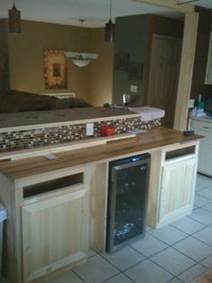 Kitchen Island 2 Tier kitchen remodel. step down, 2 tier island centered on  | for