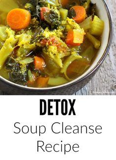 DETOX diet soup cleanse recipe for a healthy detoxification