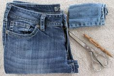 """If your waist is quite a bit smaller than your hips, you may suffer from """"gaposis"""" when you buy jeans to fit your hips. This leaves plenty of room in the waistband, creating a clear view of, ahem, you know, your unmentionables. Well, there is a fix for your jeans to help keep those unmentionables unmentionable. Watch our video tutorial..."""