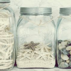 Can get any type of jar from Michaels... Beach themed home