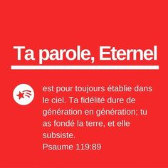 Psaumes 119: 89