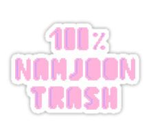 100% Namjoon trash Sticker