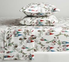 There's gnome place like home. Illustrating a fairytale forest scene, these pillowcases add a layer of magic to your holiday bed. Kinder to the environment and healthier for your home, we craft this bedding with cotton that's or Organic Cotton Sheets, Cotton Sheet Sets, Percale Sheets, Bed Sheets, Pottery Barn Christmas, Christmas Bedding, King Sheet Sets, Flat Sheets, Bedding Sets