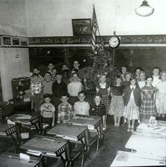 Old Fashioned Classroom at Christmas...