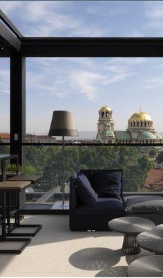 Rooftop Bar, Hotel Sense, Sofia, Bulgaria http://www.sensehotel.com/