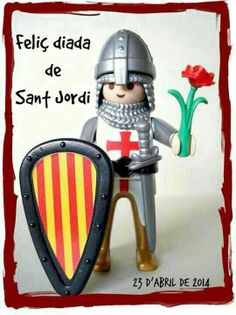 Saint Joan of Arc made with Playmobil. I believe some of these come ready made from the company, and I know you can custom order them. These would be great for units on Catholic Saints. Saint Joan Of Arc, St Joan, St Georges Day, Prince, Barcelona Catalonia, Lego Figures, My Roots, Catholic Saints, What Inspires You