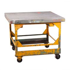 Yellow Industrial Rolling Table