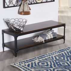 Belham Living Trenton Indoor Bench with Storage Shelf - You've put in a lot of work appointing your home with a clean-lined yet inviting style, so why don't you relax on the Belham Living Tren... Dimensions: 48W x 16D x 16H in. $169