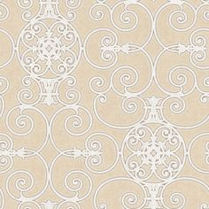PSN105434 Beige Belleek Wallpaper - Passion by Patty Madden