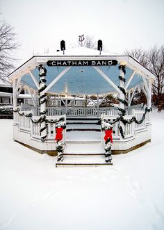 Christmas Bandstand, Chatham, MA Cape Cod. ©Christopher Seufert Photography