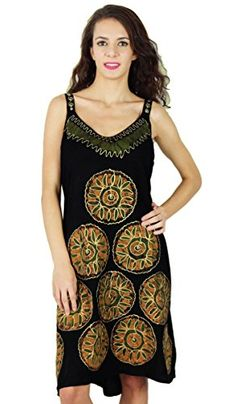 70c50f9533b7 Casual Summer Dress Batik Print Sleeveless Rayon Women Beach Sundress   gt  gt  gt