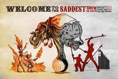 Vegan art. The truth about Circus and its cruelty to animals.