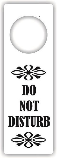Do Not Disturb Door Hanger  Crafts Arts  Kids Crafts  Children