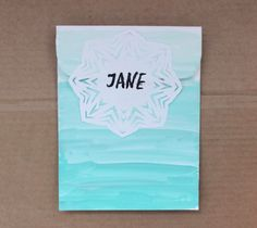 Beautiful Christmas Packaging Idea: Ombre envelopes