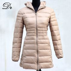 Hot Sale 2014 New Winter Down Parka Womans Slim Hooded White Duck Down Jacket Warm Down Coat Light Outerwear