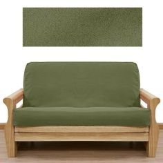 Ultra Suede Sage Pine Futon Cover Full 646 By Slipcover 79 00 In Stock Queen Size Settwin