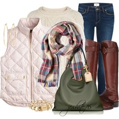 """""""Wool and a Qulited Vest"""" by jewhite76 on Polyvore"""