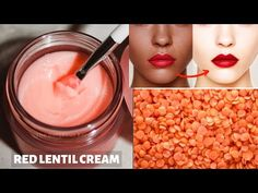 DIY Red Lentil Cream | Skin Whitening & Anti-Aging Cream | Remove Dark Spots & Pigmentation - YouTube Beauty Tips For Glowing Skin, Health And Beauty Tips, Anti Aging Cream, Anti Aging Skin Care, Homemade Skin Care, Homemade Facials, Skin Cream, Skin Light Cream, Skin Treatments
