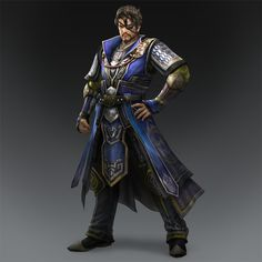 xiahou dun | Xiahou Dun slashes through armies with a scimitar.