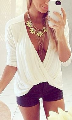 Wrap V-Neck Top