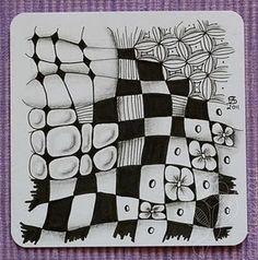 #tangle art, zendoodle, checker board variations