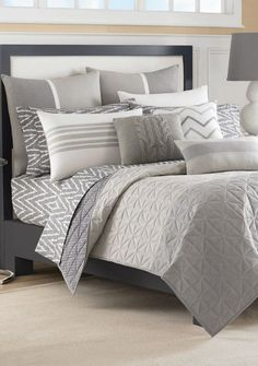 Margate Gray Twin Coverlet 68-in. x 88-in.