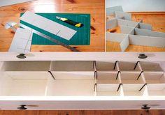 Organizar los cajones de una manera creativa