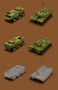 Low Poly army vehicles by Shaka-zl on DeviantArt Low Poly Car, Poly Tanks, Polygon Modeling, Low Poly Games, Polygon Art, 3d Model Character, Different Art Styles, Low Poly 3d Models, Modelos 3d