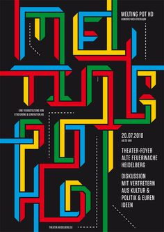 Flyer Goodness: Typographic Posters by Götz Gramlich Type Posters, Poster Ads, Poster Prints, Typography Letters, Hand Lettering, Graphic Eyes, Typographic Poster, Types Of Art, Type Art