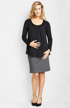 Maternal America Chiffon Knit Maternity Top | Nordstrom