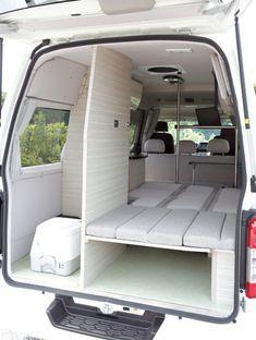 Van Conversion Interior, Camper Van Conversion Diy, Motorhome, Custom Camper Vans, Build A Camper Van, Minivan Camping, Van Home, Mini Camper, Campervan Interior