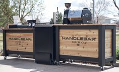 HbC Coffee Carts - Album on Imgur Mobile Coffee Cart, Mobile Coffee Shop, Pool Bar, Shop Interior Design, Cafe Design, Bar Pub, Built In Braai, Coffee Presentation, Coffee Bar Design
