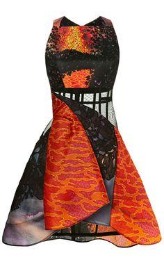 Shop Volcano Dress by Peter Pilotto for Preorder on Moda Operandi