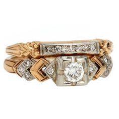 Diamond Gold Ring Set