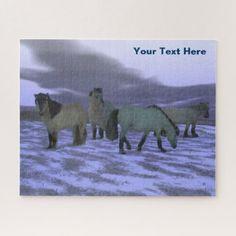 Dawn Horse - Yakutia Jigsaw Puzzle -nature diy customize sprecial design
