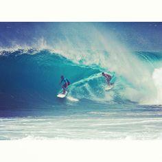 Shared barrel!   Photo by surfline