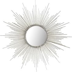 Pier 1 Imports Petite Silver Burst Mirror (1.920 RUB) ❤ liked on Polyvore featuring home, home decor, mirrors, silver, pier 1 imports, silver home decor, sun burst mirror, framed mirror and silver sunburst mirror