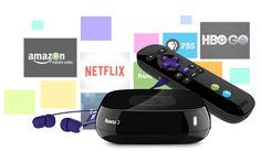 Roku 3 Streaming Player 4230R with the included remote and headphones  closer view