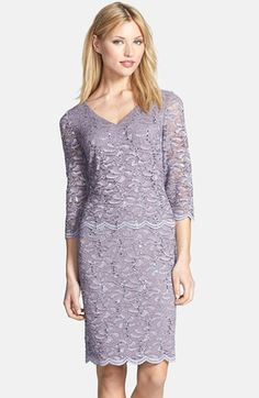 Alex Evenings Mock Two-Piece Lace Sheath Dress (Regular & Petite) available at #Nordstrom