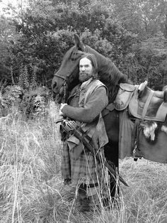 Duncan Lacroix on the set of Outlander.