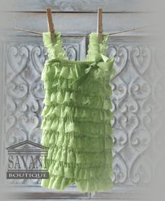 Hey, I found this really awesome Etsy listing at https://www.etsy.com/listing/157239115/baby-green-lace-romper-petti-romper-lace