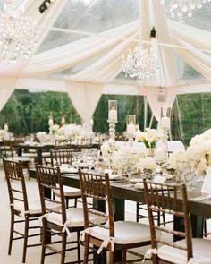 Perfect elegant reception ! <3 LOVE